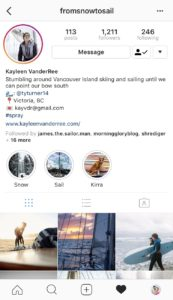 Sailing Instagram fromsnowtosail